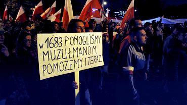 11 listopada2015, marsz patriotów z okazji Święta 11 Listopada