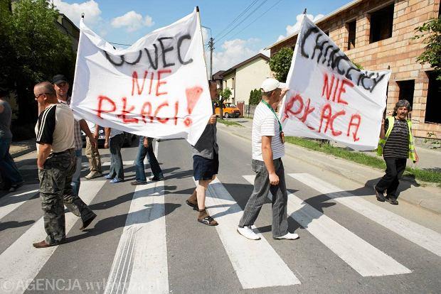 Podwykonawcy firmy COVEC protestują, bo chcą odzyskać pieniądze