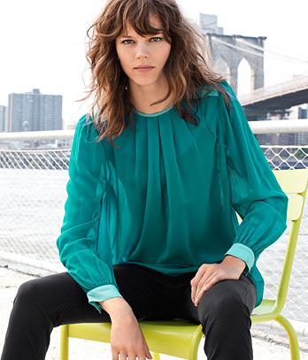 zielona bluzka H&M 99,90 z�