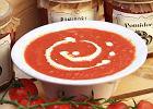 Menu dnia z zupą pomidorową