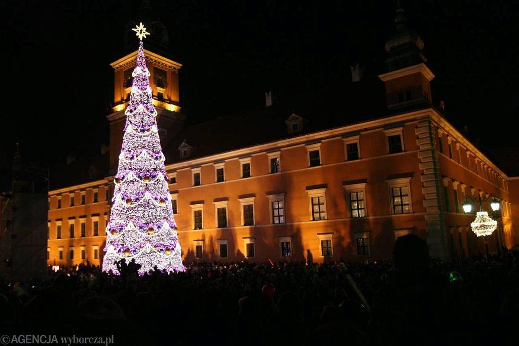 Choinka na pl. Zamkowym w Warszawie