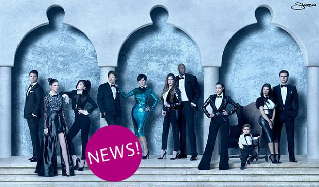 Oficjalna kartka �wi�teczna rodziny Kardashian