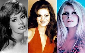 Brigitte Bardot, Claudia Cardinale, Sophia Loren