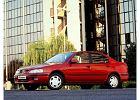 NISSAN Primera Sedan 96-99, rok produkcji 1996, sedan, widok przedni lewy, samoch�d 4-drzwiowy, kolor czerwony jasny