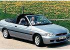 FORD Escort Cabriolet 95-00, rok produkcji 1996, kabriolet, widok przedni prawy, samoch�d 2-drzwiowy, kolor silver grey
