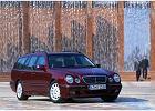 MERCEDES-BENZ Klasa E Kombi [S 210] 99-03, rok produkcji 1999, kombi, widok przedni prawy, samoch�d 5-drzwiowy, kolor bordeaux (czerwony ciemny)