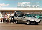 SKODA Felicia Kombi 95-98, rok produkcji 1995, kombi, widok przedni prawy, samoch�d 5-drzwiowy, kolor silver grey