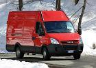 IVECO Daily 50C15 3,5t Euro 5, rok produkcji 2007, furgon, widok przedni prawy, kolor czerwony jasny