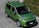 FIAT Fiorino Qubo 08-, rok produkcji 2008, kombi, widok przedni prawy, kolor zielony