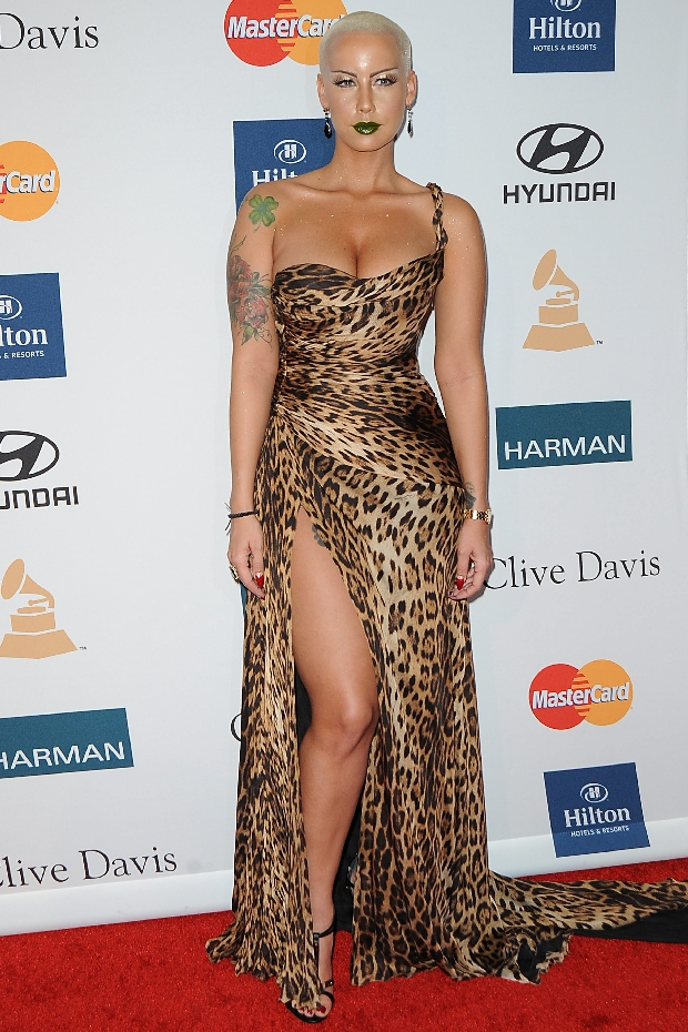 ?NATIONAL PHOTO GROUP  Amber Rose attends The Clive Davis And The Recording Academy's 2012 Pre GRAMMY Gala  Job: 021212L1  .  February 12, 2012 Los Angeles, CA  NPG.com