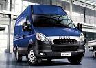 IVECO Daily 35S11 Euro 5, rok produkcji 2011, furgon, widok przedni prawy, samoch�d 4-drzwiowy, kolor niebieski jasny
