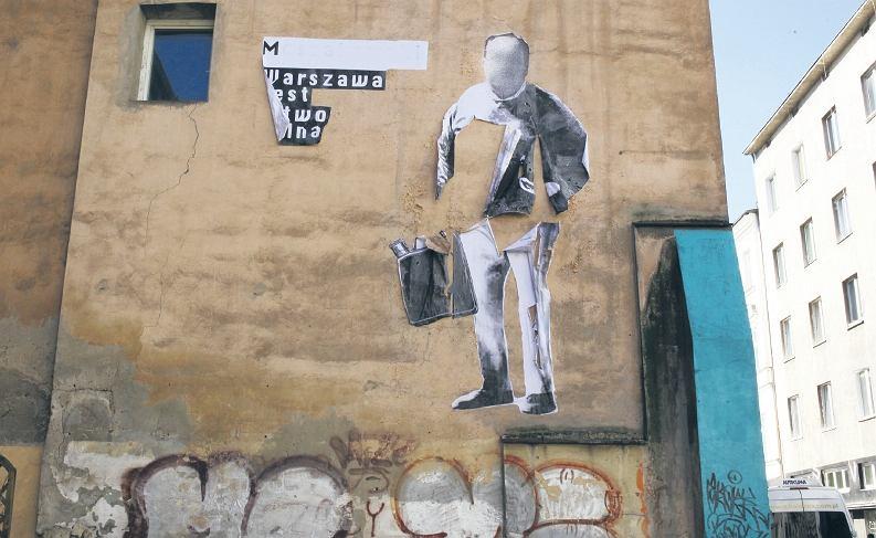 Znienawidzony kamienicznik trafi na mural for Mural ursynow