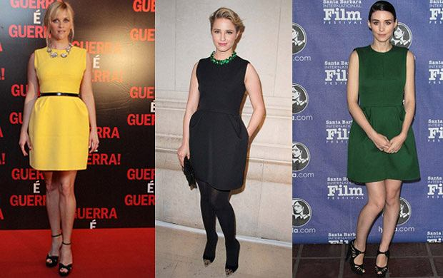 Trzy gwiazdy, trzy kolory, jedna sukienka - kto wygl�da� najlepiej?