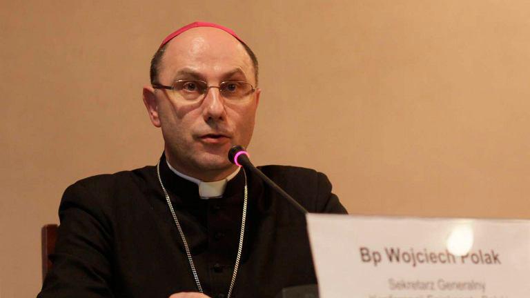 Sekretarz generalny episkopatu Polski bp Wojciech Polak