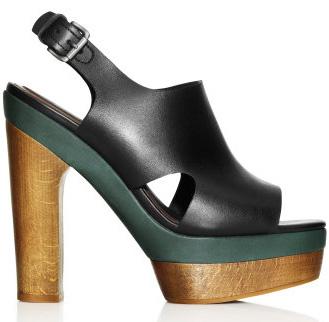 Buty z korkow� i drewnian� podeszw�, obuwie damskie, wiosna 2012