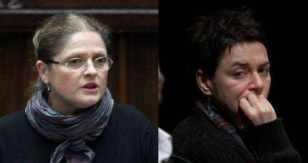 Krystyna Paw�owicz i Kazimiera Szczuka