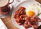 �niadanie angielskie - fasola, boczek i jajko