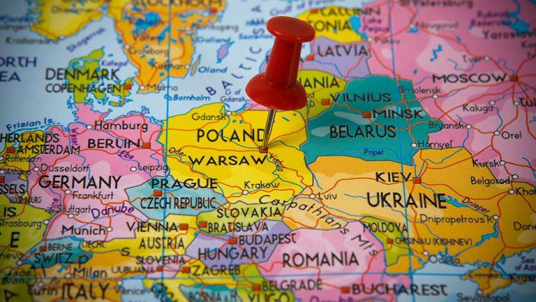 Polska, mapa, Europa