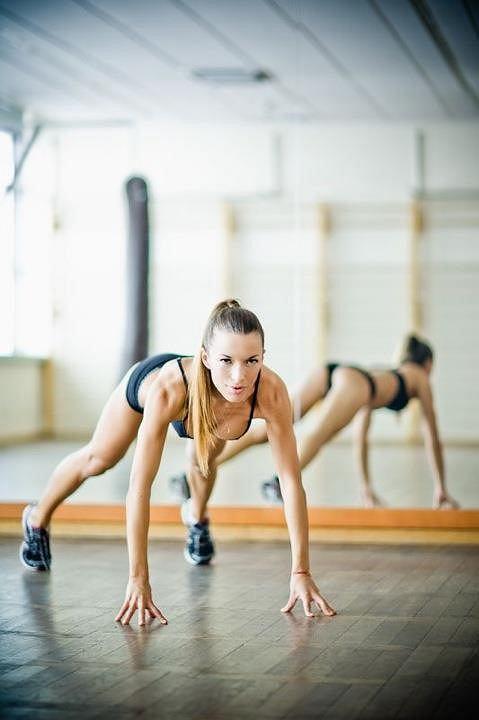 Ewa Chodakowska podczas treningu.