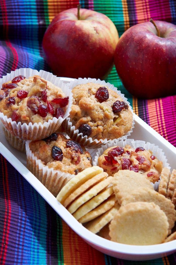 Menu dnia z jab�kowymi muffinami