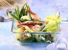 Sałatka z warzywami i melonem - ugotuj