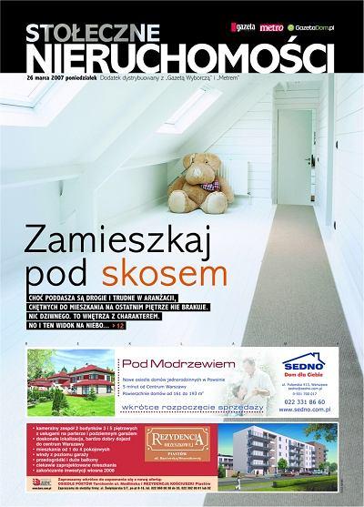 """""""Stołeczne Nieruchomości"""" - dodatek do """"Gazety Stołecznej"""" i warszawskiego wydania """"Metra"""""""