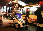 Dwa wypadki z udzia�em tramwaj�w w centrum miasta