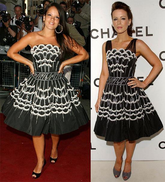 734d7086a7 sukienki biało czarna. Lily Allen czy Kate Beckinsale