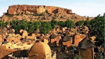 Typowa wioska Dogonów