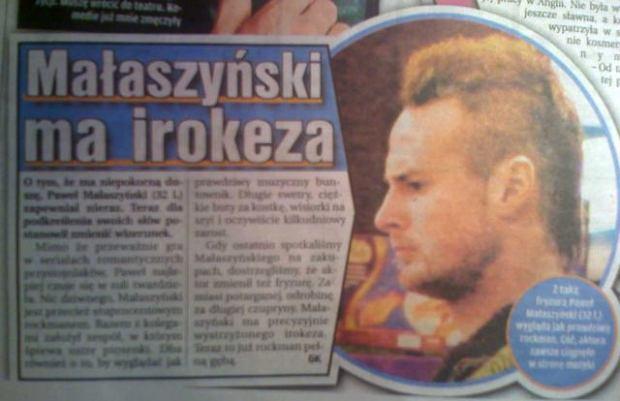 Pawe� Ma�aszy�ski/30/10/2008/Fakt