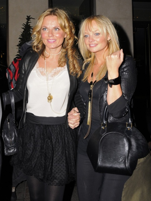 Mandatory Credit: Photo by Copetti/Photofab / Rex Features ( 1005242ao )  Spice Girls - Geri Halliwell and Emma Bunton  Spice Girls at the Palm Restaurant in Knightsbridge and at the Mayfair Hotel, London, Britain - 16 Sep 2009  Spice Girls reunion (minus Victoria Beckham). Geri Halliwell, Emma Bunton, Mel B and Mel C on a night out all together at the Palm restaurant in Knightsbridge and at the Mayfair Hotel.