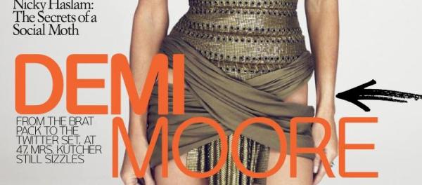 Demi Moore W Magazine grudzień 2009