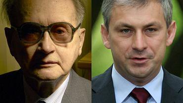 Wojciech Jaruzelski i Grzegorz Napieralski