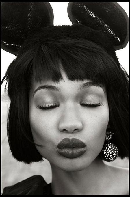 Zdjęcie numer 6 w galerii - Chanel Iman jako Myszka Minnie