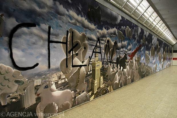 Zdj cie nr 2 w galerii mural z barankami w metrze for Mural ursynow
