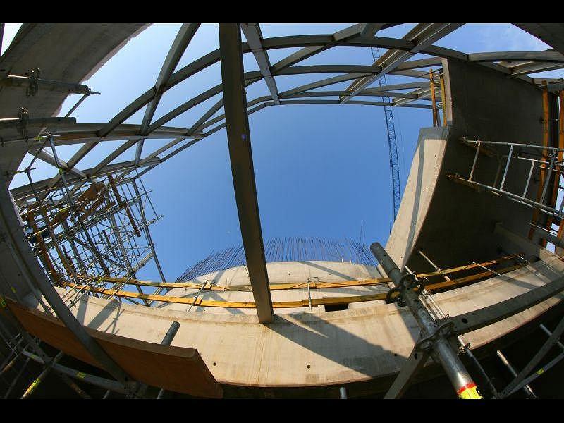 Budowa Centrum Nauki Kopernik - zdjęcia z 5 lutego 2010 r.