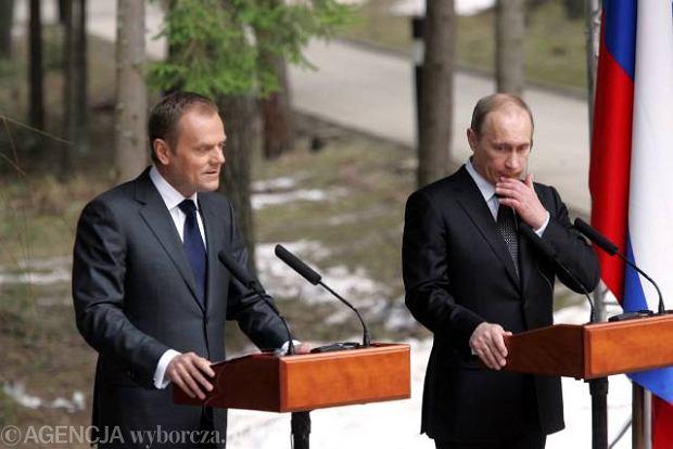 Donald Tusk, W�adimir Putin