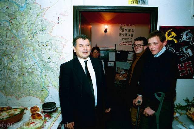 Wnętrze siedziby Porozumienia Centrum, wrzesień 1993