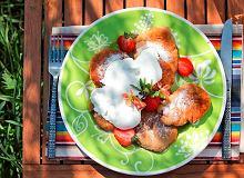Bliny gryczano-serowe z owocami - ugotuj