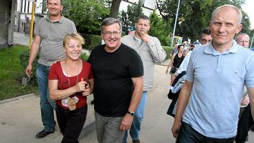 Prezydent Bronisław Komorowski z wizytą w Bogatyni, 10 sierpnia 2010 r.