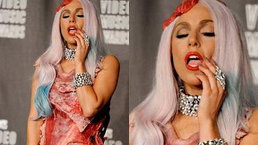 Lady Gaga w sukience z mi�sa 6 lat temu szokowa�a. Jak kreacja wygl�da dzi�?