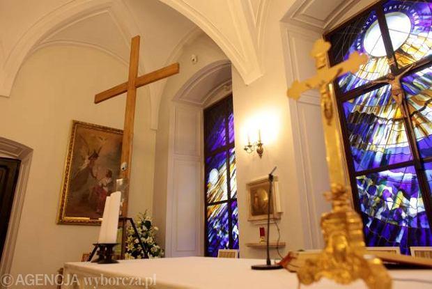Krzy� obecnie znajduje si� w kaplicy Pa�acu Prezydenckiego.