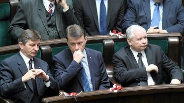 Mariusz Kuchciński, Mariusz Błaszczak, Jarosław Kaczyński