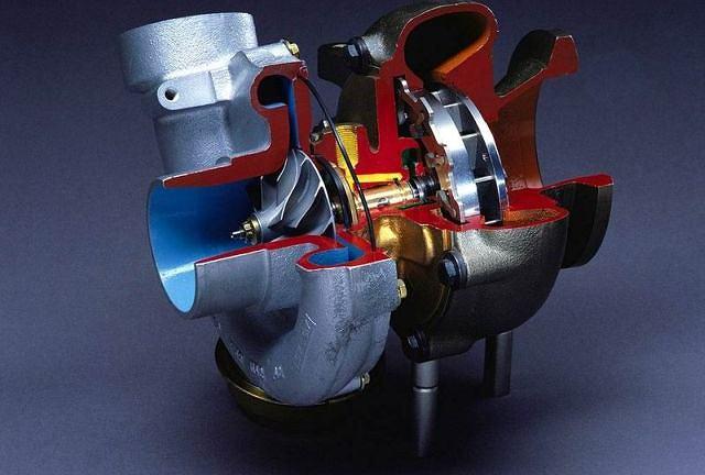 Turbosprężarka - przekrój
