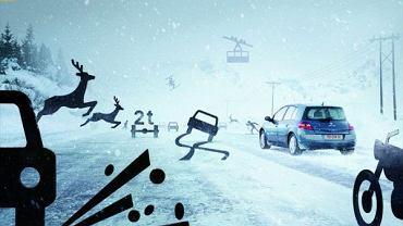 Jazda zimą to spore wyzwanie dla wielu kierowców - Reklama poprzedniej generacji Renault Megane