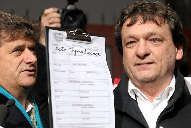 Janusz Palikot i Piotr Tymochowicz