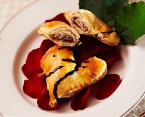 Serce z ciasta francuskiego z ricott� i gorzk� czekolad�