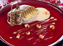 Jesiotr z sosem z raków na selerowym purée z orzechami włoskimi - ugotuj