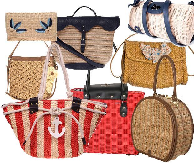 Plecione i s�omiane torby na lato