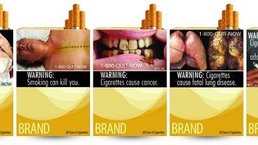 Nowe szokujące zdjęcia na paczkach papierosów w USA